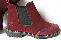 Timberland ! женские ботинки челси оксфорд замша кожа Тимберланд осень весна реплика, фото 1