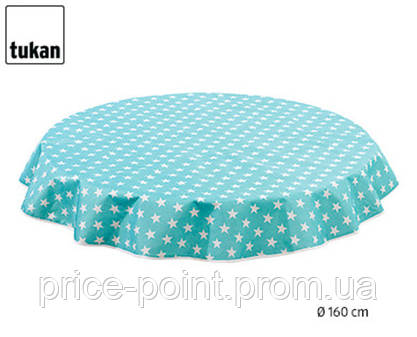 Круглая скатерть на стол с принтом Tukan, d160 см