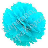 Декор бумажные Помпоны 25см (голубой 0001)