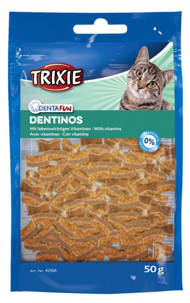 Лакомство Dentinos с витаминами для кошек 50 гр Trixie