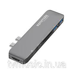 USB хаб Promate macHub-Pro Grey