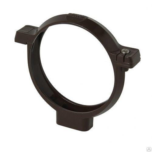 Кронштейн трубы темно-серый черный