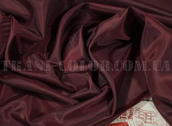 Подкладочная ткань нейлоновая бордовая (Европа), фото 2