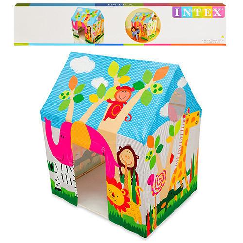 Палатка игровая детская домик джунгли Intex 45642