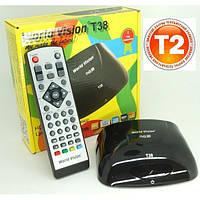 Цифровой эфирный тюнер World Vision T38, тюнер DVB-T2 WORLD VISION T38 приставка, эфирный цифровой приемник