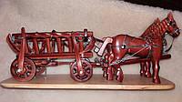 Декоративний віз-карета із кіньми