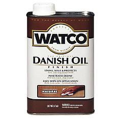 Датское масло, WATCO Danish Oil, цвет Натуральный, банка 0,946 л.