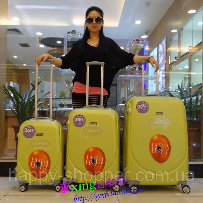 Авиа чемодан малый Ambassador Expandabl 8503 Кодовый встроенный, 1, 1, Пластик, Унисекс, 4 колеса, Ambassador