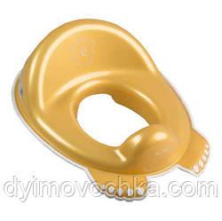 Накладка на унитаз  антискользящая Royal RL-002 Tega 60523 золотая