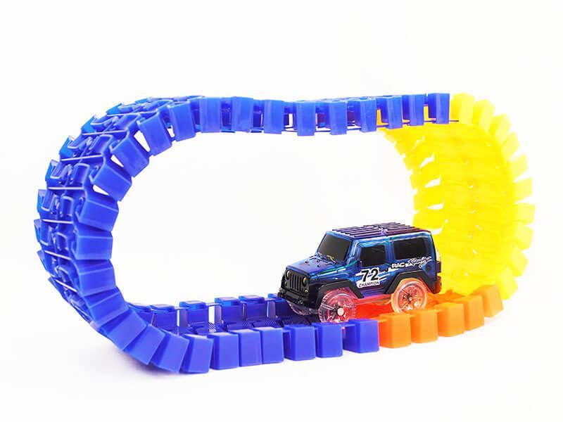 Детская светящаяся игрушечная дорога 220 деталей