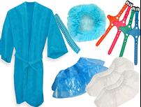 Одноразовий одяг, комплекти ( стерильні / не стерильні)