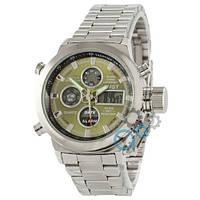 Часы AMST Metall Silver-Green