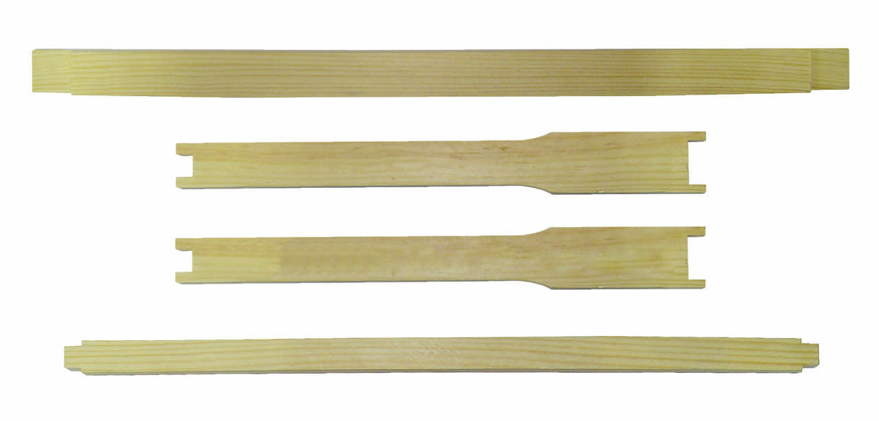 Рамка для ульев Дадан (435х300) ЛЮКС, еврошип верх и низ, с разд. Гофмана