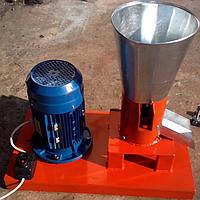 Гранулятор топливных пеллет 380 В, 4 кВт (матрица 150 мм, 100 кг/час)