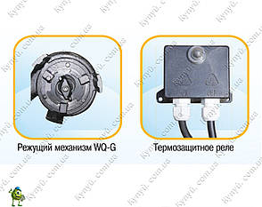 Насос фекальный Optima WQ15-14G с режущим механизмом, фото 2