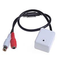 Выносной микрофон для видеонаблюдения в прямоугольном корпусе GK-500