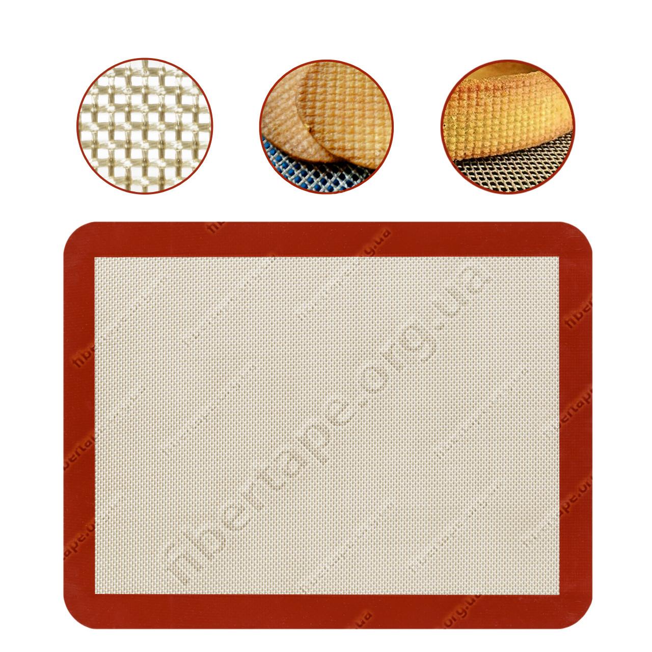 Дышащий силиконовый коврик для выпечки 300x400 мм