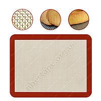 Дышащий силиконовый коврик для выпечки 450x650 мм