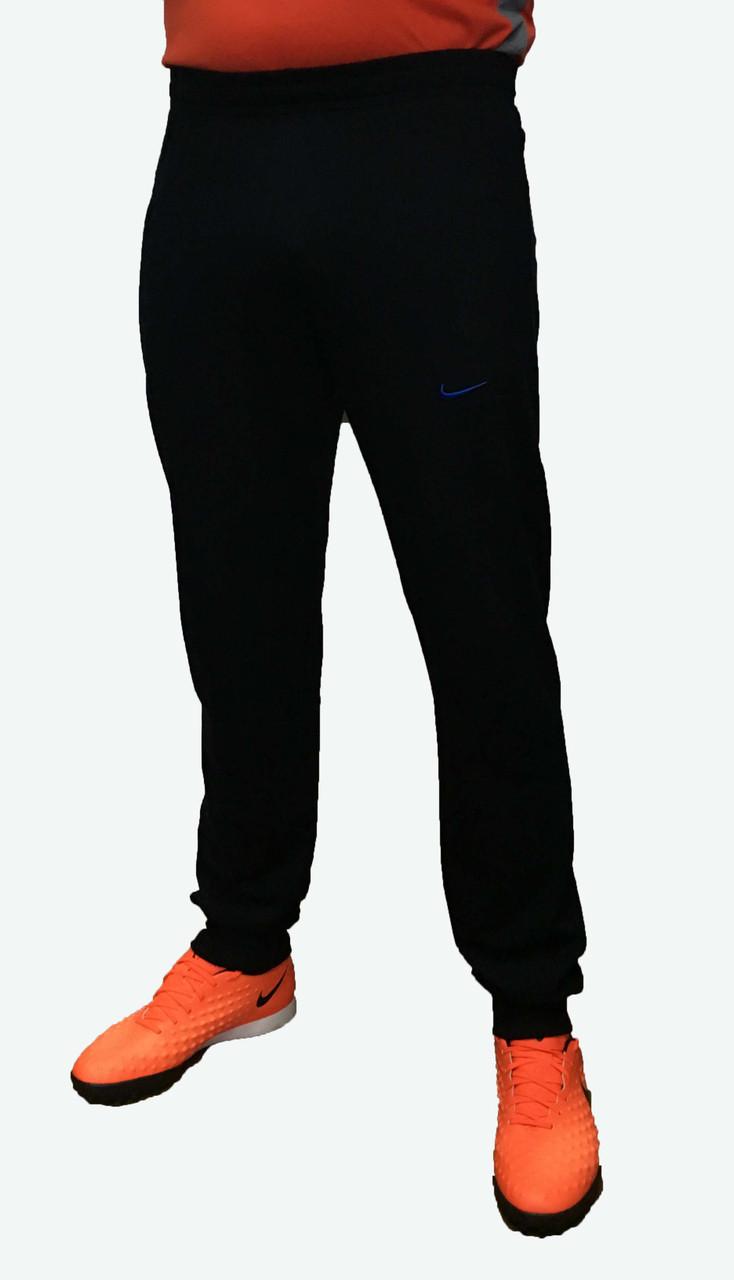 Спортивные трикотажные штаны синие на манжете XL - 50 (Реплика)