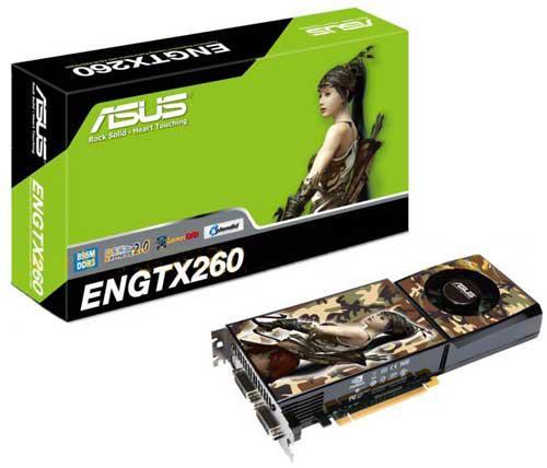 """Видеокарта ASUS GTX 260 896 Мб GDDR3 """"Over-Stock"""" Б/У"""