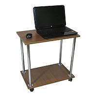 """Прикроватный журнальный столик """"Loco"""" для ноутбука или завтрака, на роликах орех лесной, Тавол"""