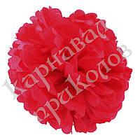 Декор бумажные Помпоны 30см (малиновый 0009), фото 1