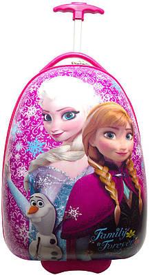 340681551edc Пластиковый детский чемодан Эльза и Анна №082 розовый 22 л — только ...