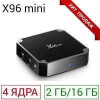 ХИТ! Смарт ТВ приставка Android TV Box X96 Mini 2GB+16GB 4 ядра 2.0 ГГц + Видеокарта 4-ядерная Mali-450