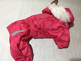 Комбинезон для собак Сильвер красно-розовый размер Йорк №1