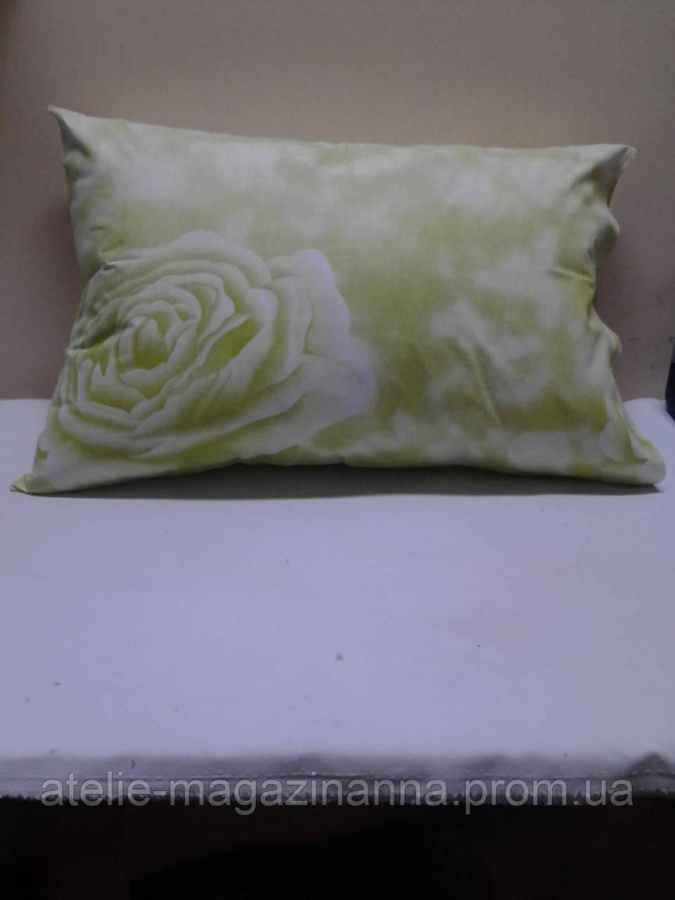 Наволочка на подушку из бязи 50*70 зелёная нежная недорого