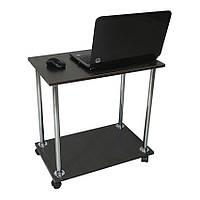 """Прикроватный журнальный столик """"Loco"""" для ноутбука или завтрака, на роликах венге темный, Тавол"""