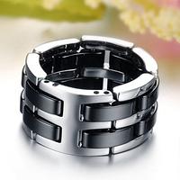 Мужские кольца из стали и вольфрама