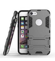 """ХИТ! ЧЕХОЛ Iphone Ударопрочный чехол-подставка Transformer для Apple iPhone 7 / 8 (4.7"""") с мощной защитой корпуса Металл / Gun Metal"""