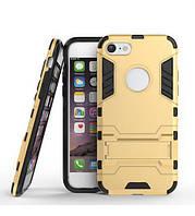 """ХИТ! ЧЕХОЛ Iphone Ударопрочный чехол-подставка Transformer для Apple iPhone 7 / 8 (4.7"""") с мощной защитой корпуса Золотой / Champagne Gold"""