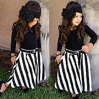 Костюм для девочки 3/1-футболка+юбка+повязка на голову, фото 1