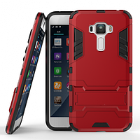 ХИТ! ЧЕХОЛ Asus Ударопрочный чехол-подставка Transformer для Asus Zenfone 3 (ZE552KL) с мощной защитой корпуса Красный / Dante Red