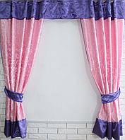 Кухонная занавесь, шторки гардина с подвязками е385