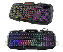 Клавиатура HV-KB406L GAMING USB, black, с подсветкой (24381)