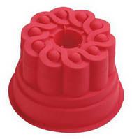 Форма силиконовая для выпечки ( круглая в виде торта)  16х10,5см