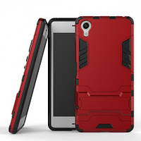 ХИТ! ЧЕХОЛ Sony Ударопрочный чехол-подставка Transformer для Sony Xperia XA / XA Dual с мощной защитой корпуса Красный / Dante Red