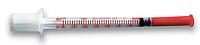 Шприц инсулиновый VM 1,0 мл U-40 с иглой 29G 0,33х13мм