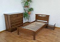 """Кровать односпальная """"Фантазия"""". Массив - сосна, ольха, береза, дуб."""