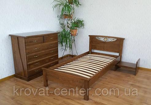 """Кровать односпальная из натурального дерева """"Фантазия"""" от производителя, фото 2"""