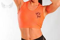 Спортивная майка My Angel оранжевая, фото 1