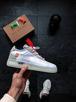 Женские кроссовки  White X Nike Air Force 1 Low - White АТ-709