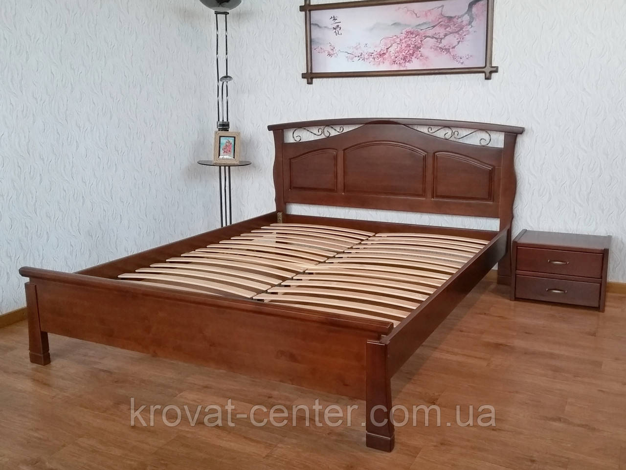 """Деревянная двуспальная кровать для спальни """"Марго"""""""