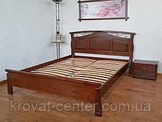 """Ліжко двоспальне 160х200 з масиву дерева для спальні """"Марго"""" (колір на вибір)"""