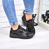 Кроссовки женские Nike Huarache черные 4219, люкс качество