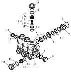 Латунная головка блока цилиндров в сборе NMT (1.099-752.0)