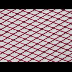 Решетка декоративная накладка для машины 1м х 0,33м красная